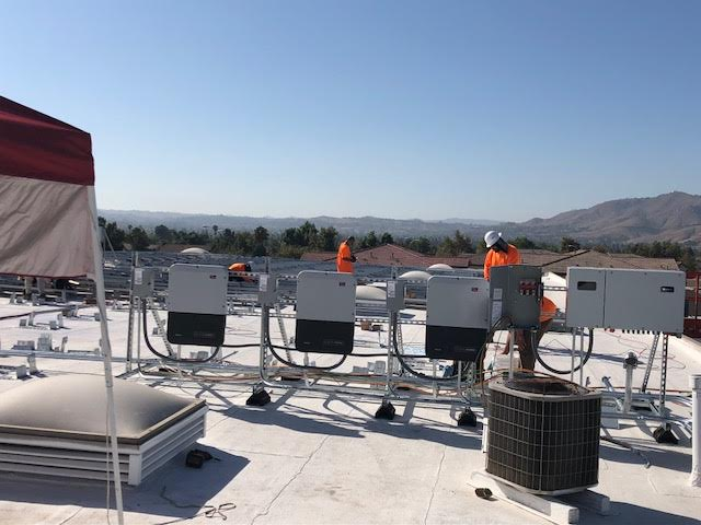 Our commercial solar panel installation being provided in Ontario, CA